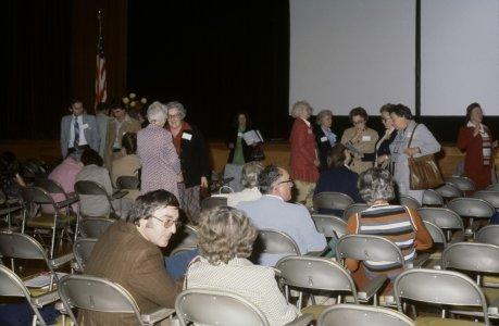 CMG Seminar, Oct. 6-8, 1977 [slide]: [Seminarians chatting between lectures].