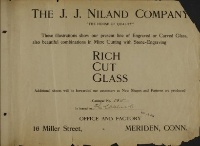 The J.J. Niland Company: rich cut glass.