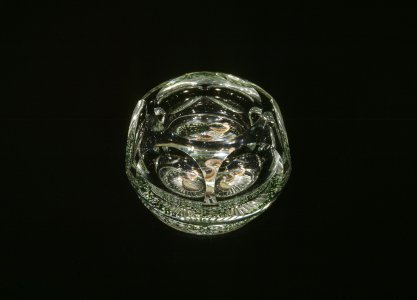 Paperweight with 3 Ducks in a Pond