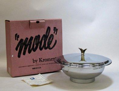 Metal Bowl with Lid in Original Box