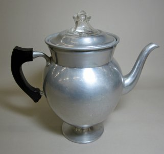 Metal Pyrex Coffee Percolator