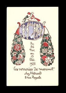 Les verreries de Marinot [invitation].