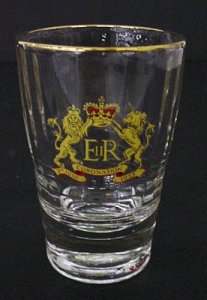 Tumbler or Whiskey with Royal Crown