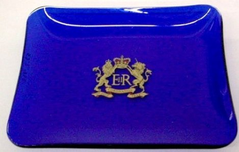 Red Tray with Royal Crown