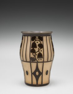Vase with Stylized Flowers