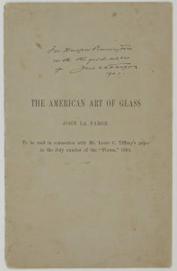 The American art of glass / John La Farge.