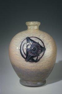 Vase with Three-Petaled Flower (Trillium?)