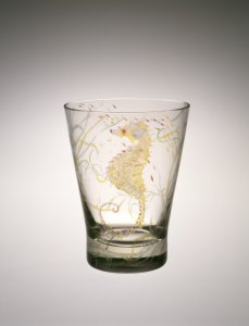 Vase with Sea Horse or Underwater Scene
