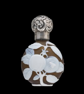 Cameo Scent Bottle with Plums