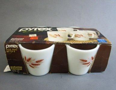 4 Pyrex Coffee Mugs in Original Carrier