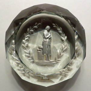 Paperweight with Sulphide of Joan of Arc