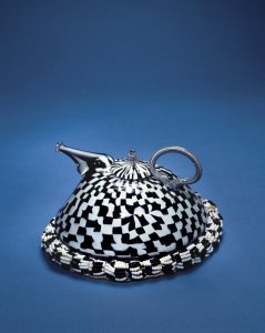 Teapot and Beaded Cozy