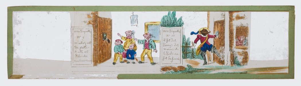 Magic Lantern Slide with Story of Mère Biquette