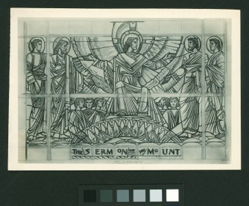 [The sermon on the mount stained glass cartoon] [picture].