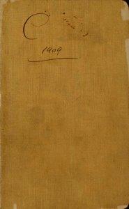 C 1909 [notebook].