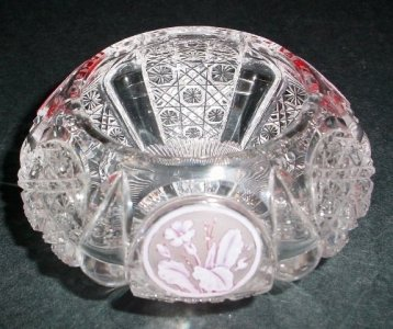 Bowl with Cameo Rose Design