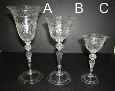 3 Engraved Goblets