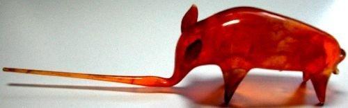 Flameworked Orange Bull