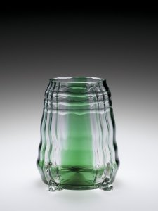 Vase with Green Stripes