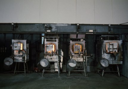 [Color transparency of Dominick Labino's furnaces] [slide].