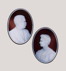 2 Portrait Plaques
