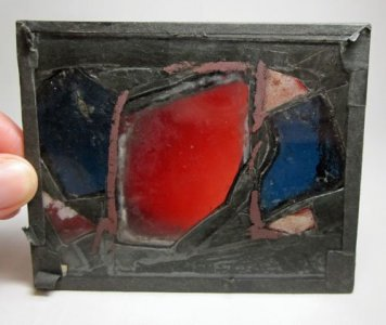 6 Framed Sections of Stained Glass