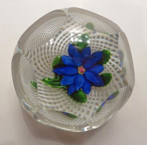 Paperweight with Dahlia