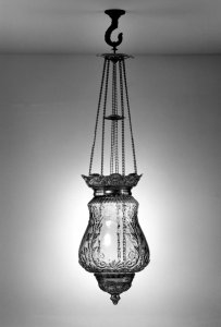 Cranberry hall lamp [picture]