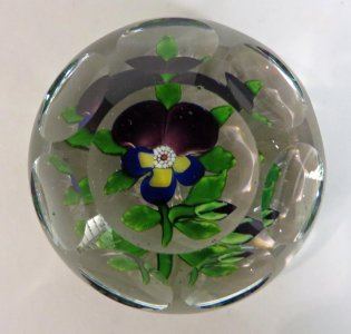 Paperweight with Pansy