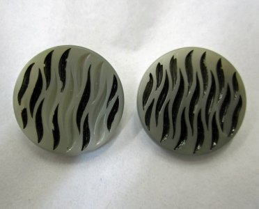 2 Gray and Black Buttons