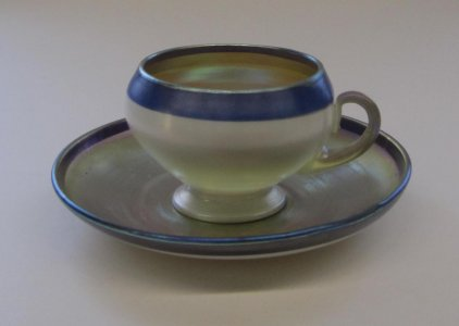 Favrile Cup and Saucer