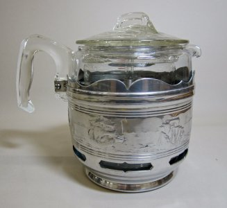Pyrex Coffee Pot with Metal Mount