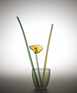 """Broken Flower"" Vase Prototype with Yellow Flower"