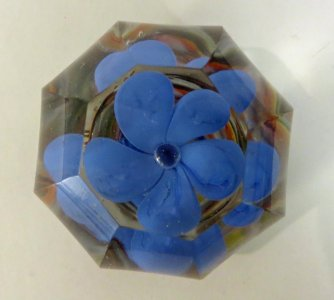 Paperweight with Blue Flower