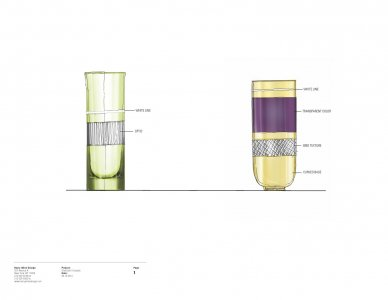 [Five design drawings used in preparation for GlassLab prototypes] [electronic resource].