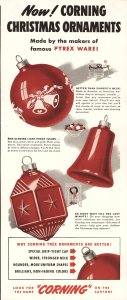 Now! Corning Christmas ornaments [advertisement]: made by the makers of famous Pyrex ware!