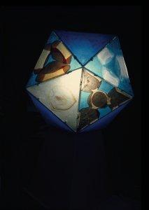 [Color transparency of Icosahedron sculpture] [slide].