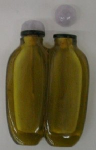 Double Snuff Bottle with 2 Stopper Spoons