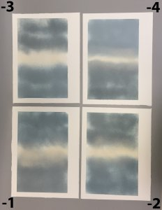 "4 Fused Glass Sheets from ""Glass"" Deluxe Edition Publication"