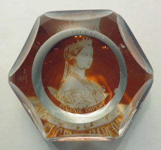 Paperweight with Portrait of Empress Eugenie