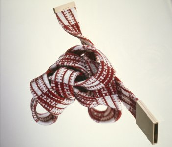 Red and white neckpiece [slide].