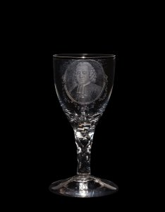 Stipple-engraved Wineglass