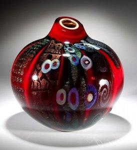 Large Red Pot Form