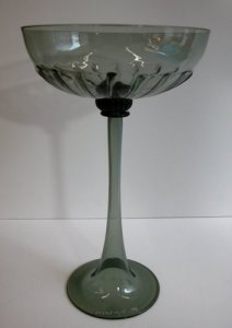 Tall Goblet with Ribbed Bowl
