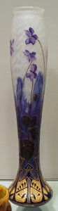 Tall Vase with Violets