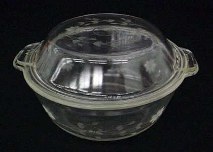 Engraved Pyrex Casserole and Cover
