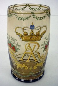 Humpen with a Crown over AR