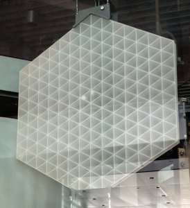Hexagon-shaped Section of a Large ULE (TM) Mirror Blank