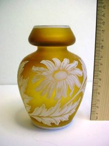 Cameo Vase with Daisies