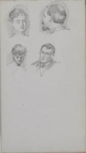 [Blue sketchbook] 1900 / F. Carder.